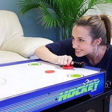 ... Kids Air Hockey Table: Mini Small Portable Tabletop