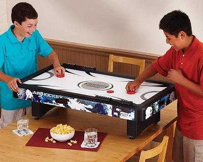 Tabletop Air Hockey Table Mini Kids Small Portable