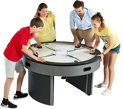 Enjoyable Best 4 Player Round Air Hockey Table Orbit Eliminator Md Interior Design Ideas Tzicisoteloinfo