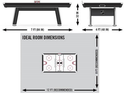 Superieur What Are Air Hockey Table Dimensions Size