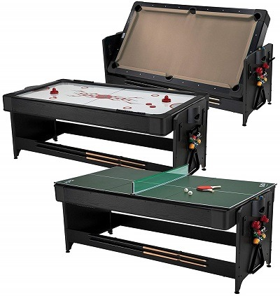 Fat Cat 3 In 1 Game Table Pokey Best Air Hockey Table